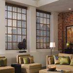 Дизайн гостиной с кирпичной стеной