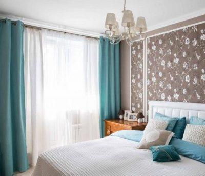 Бирюзовые шторы и текстиль