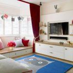 Бордовые шторы в детскую комнату для подростков