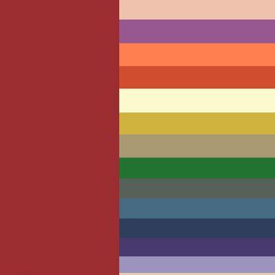 Сочетание бордового цвета