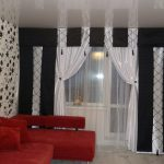 Черно-белые шторы для гостиной