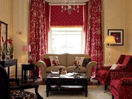 Цвет текстиля на окнах в тон мебели
