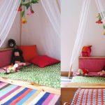 Детская зона для сна и отдыха может разместится даже на полу