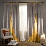 Двухцветные красивые шторы для гостиной