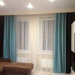 Двухцветные шторы с тулью