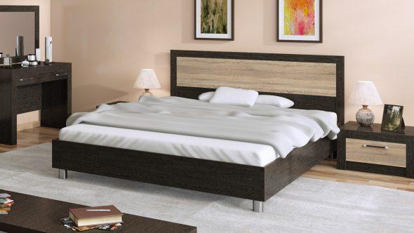 Двуспальная широкая кровать