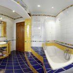 Синий цвет в дизайне ванной