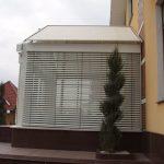 Использования рафштор для защиты стеклянной пристройки от солнечных лучей