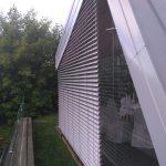 Защита стеклянного фасада с помощью рафштор