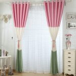 Комбинированный цвет штор в спальню