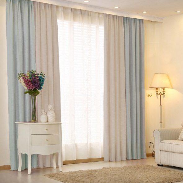 Комбинированные двухцветные шторы