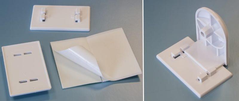 Крепежные элементы рулонных штор для монтажа на скотч