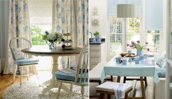 Кухни в голубом цвете