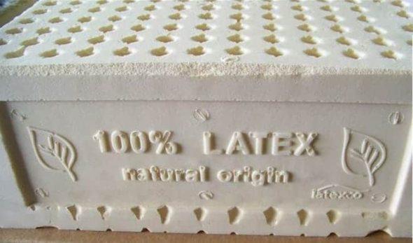 Натуральный латекс имеет оттенок жирных сливок
