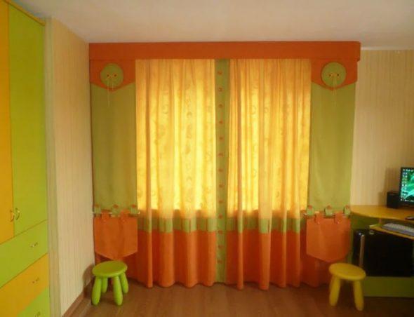 Оригинальные яркие шторы