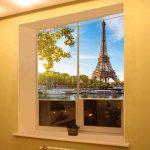Парижские мотивы на полотне шторы