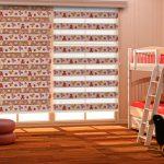 Шторы зебра в дизайне детской комнаты