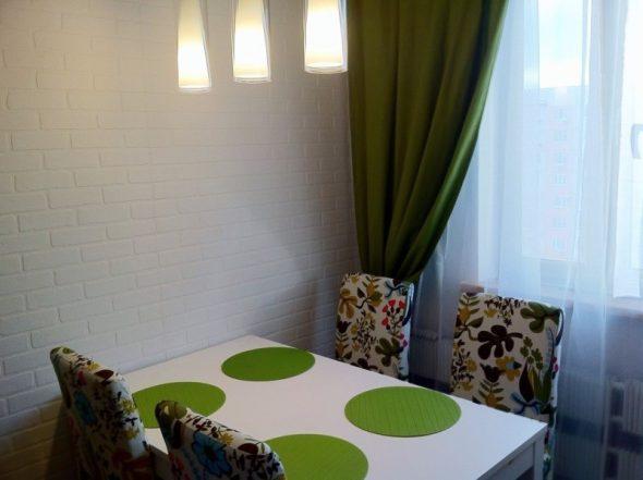 Травяной цвет для белой кухни
