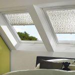 Мансардные окна с рулонными шторами