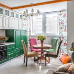 Классический гарнитур в интерьере кухни