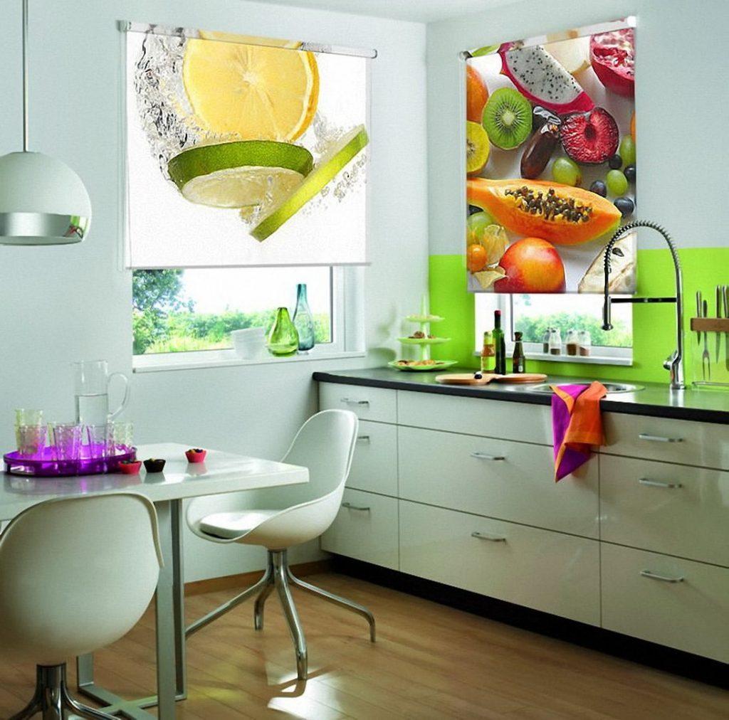 Рулонные шторы с фотопечатью фрукты