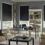 Рулонные шторы блэкаут темно-серого цвета