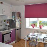 Малиновый цвет в интерьере кухни