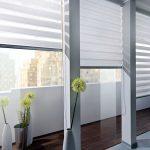 Легкие шторы из белой ткани