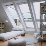 Спальные места на полу на мансарде
