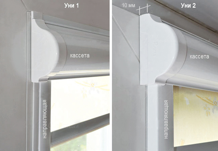 Разновидности мини кассетных рулонных штор
