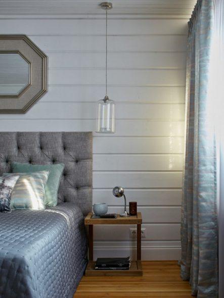 Светло-голубые тона используют в темных комнатах