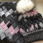 Вязание шапочки с шарфом
