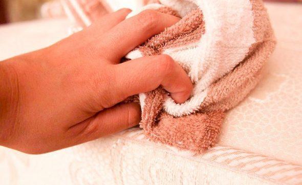 Высушиваем полотенцем