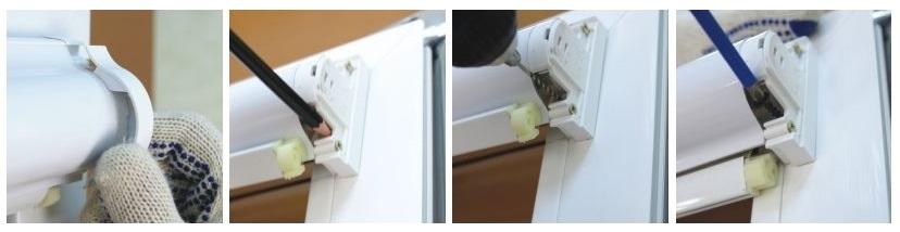 Закрепление корпуса шторы кассетного типа