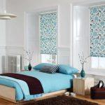 Цветочные рулонные шторы для спальни