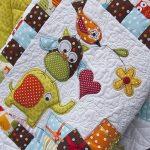 Детское лоскутное одеяло со зверятами для малыша