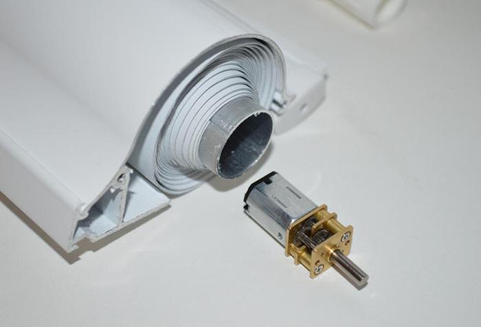 Миниатюрный электродвигатель для роллеты