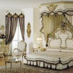 Комбинированные ламбрекен для классической спальни