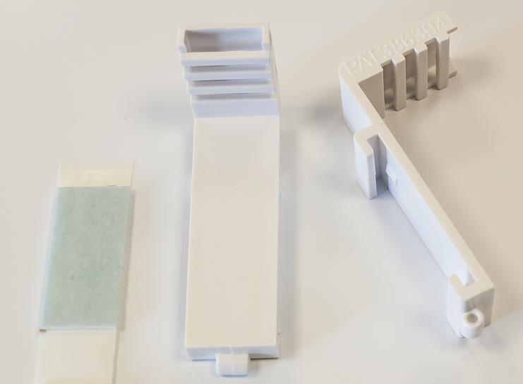 Детали навесного кронштейна для рулонной шторы