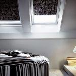Кассетные шторы с серым рисунком