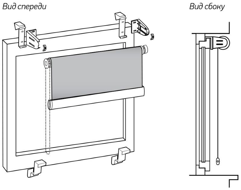 Монтаж минироллеты без сверления на пружинные кронштейны