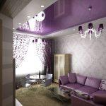 Натяжной зеркальный потолок требует специальных встроенных карнизов
