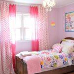Нежные розовые занавески для девчачей спальни