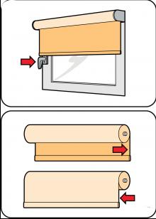 Проверка размеров для опускания и подъема штор