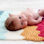 "Одеяло для новорожденного ""Зигзаг"""