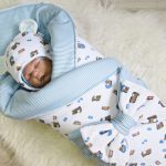 Осеннее двустороннее одеяло с бантом для мальчика