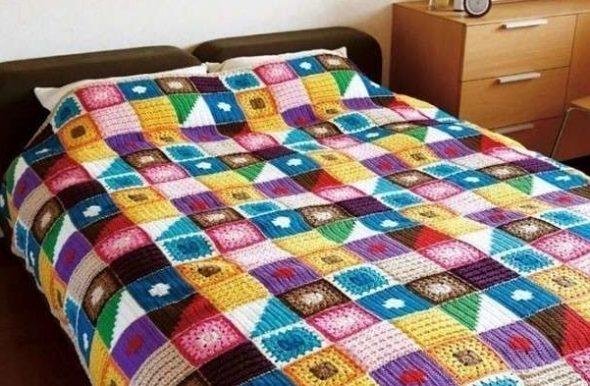 Плед на двуспальную кровать