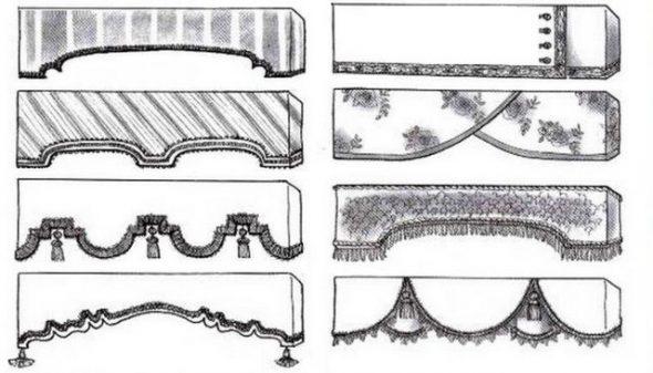 Примеры для изготовления ламбрикена