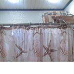 Раздвижной карниз из нержавеющей стали для шторы в ванную комнату