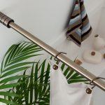 Раздвижной телескопический карниз для ванной